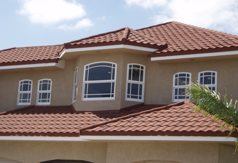 Metal tile apple tree roofing knoxville tn roofing for Metal roof that looks like spanish tile